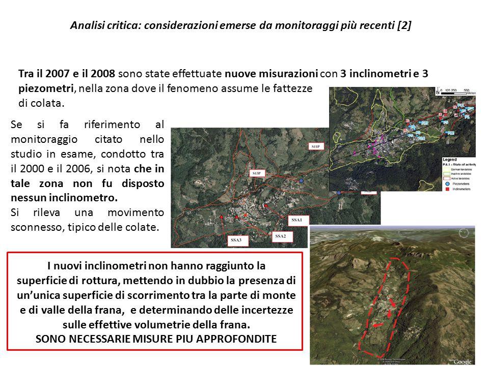 Analisi critica: considerazioni emerse da monitoraggi più recenti [2]